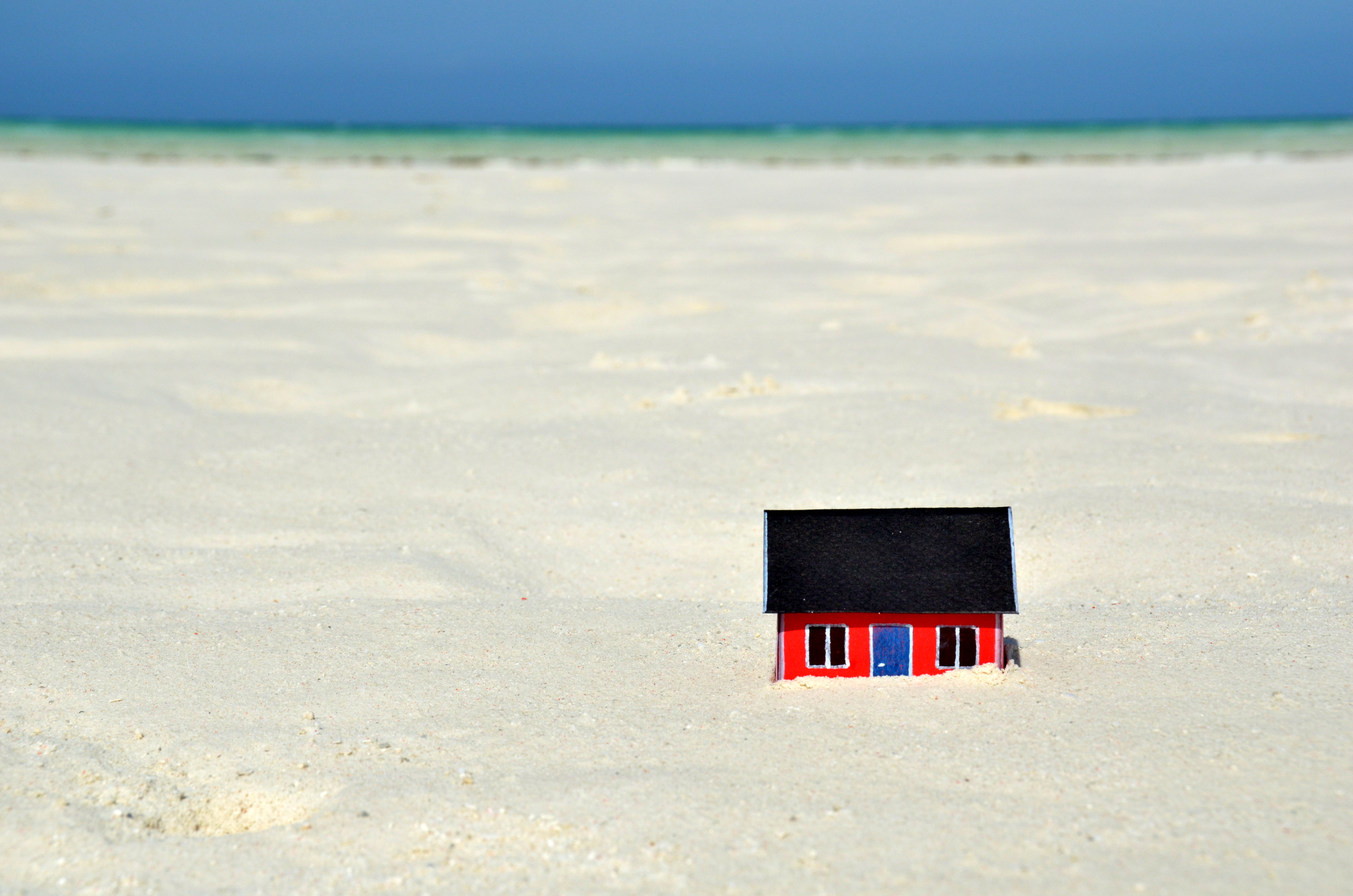 House on the sand bank
