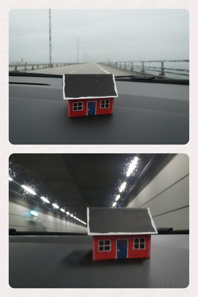 House #2.2 on the Öresund bridge on the way to Legoland in Denmark. Brought there by Nils Pokrupa and family.