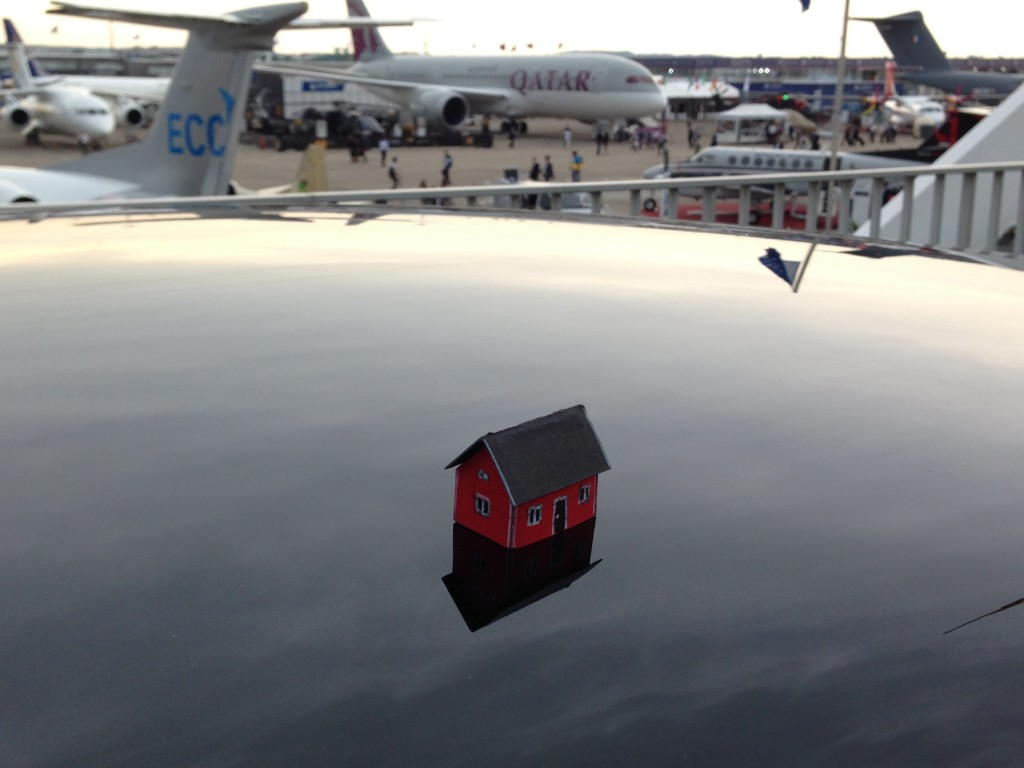 Emil Vinterhav brought Moonhouse #3.1 to the Paris Air Show at Le Bourget on June 19, 2013